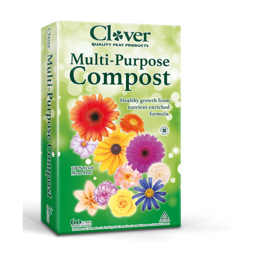 Clover Multi-Purpose Compost - 60L Bag | Moss Peat Compost