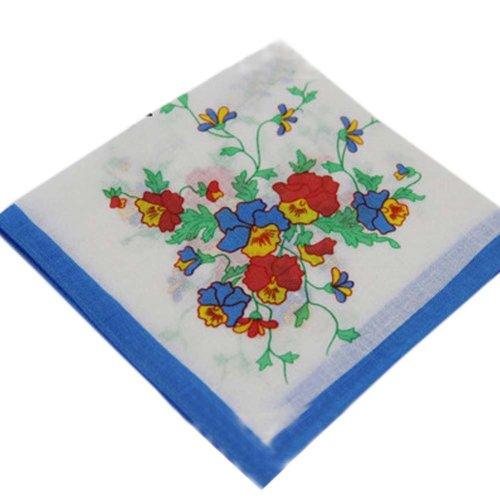 3 Pcs Vintage Handkerchiefs Ladies Pocket Flowers Handkerchief,  #03