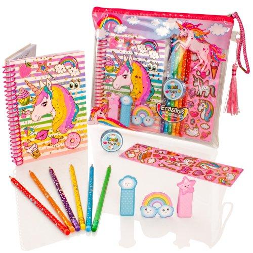 Style Girlz Deluxe Unicorn Stationery Set | Unicorn Notebook & Pencils