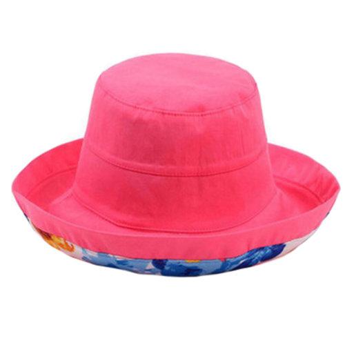 Girls Beautiful Bucket Hat Sun Hat Hiking Cap Fishing Hats, Rose Red