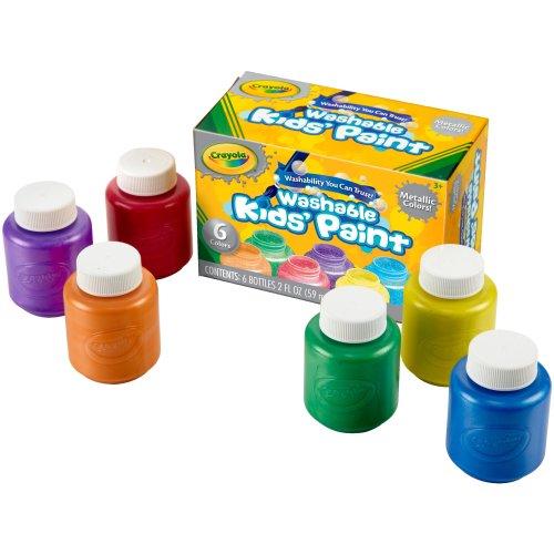 Crayola Washable Kids Paint 2oz 6/Pkg-Metallic