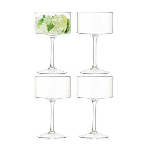 LSA International Otis Champagne/Cocktail Glass, Glass, Clear, 280 ml, Set of 4