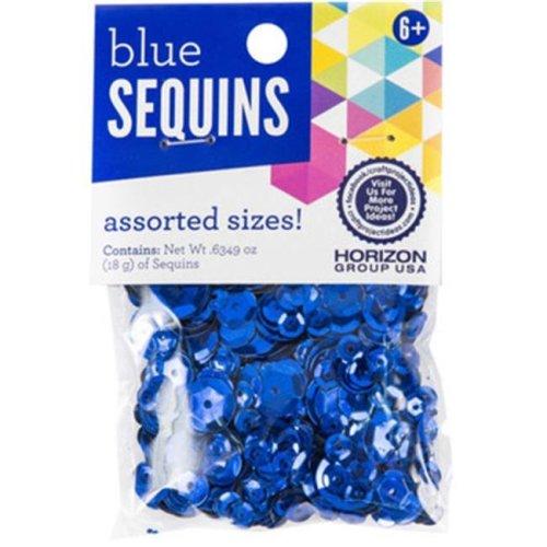 DDI 2191553 Round Sequins, Blue