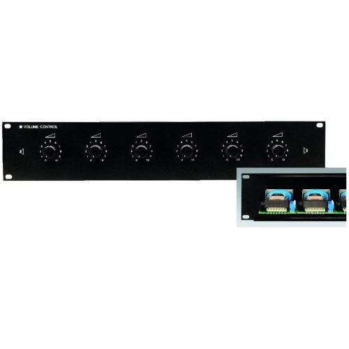 "19´´ PA Attenuator - 6-way Pa Volume Controls For 482 mm (19"") Rack Installation"