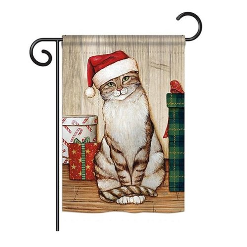Breeze Decor BD-XM-G-114192-IP-BO-DS02-US Christmas Kitty Winter - Seasonal Christmas Impressions Decorative Vertical Garden Flag - 13 x 18.5 in.