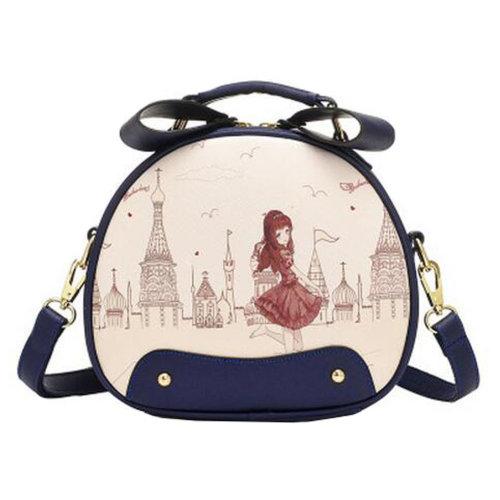 Fashion Purse ,Cute Ladies Lovely Round Prints Shoulder Bag,Elegant Single Shoulder Strap Bag ,