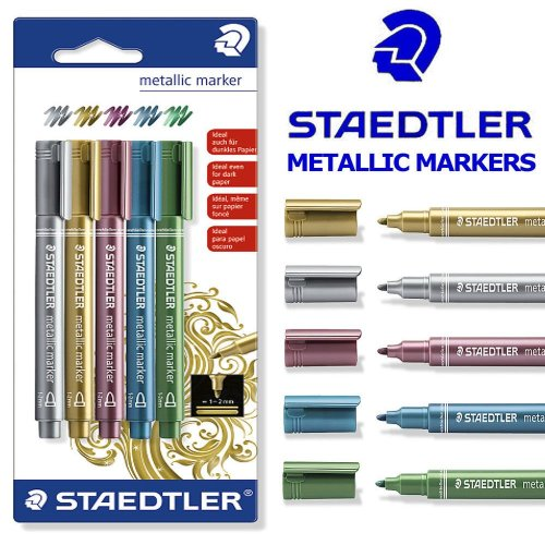 Staedtler Metallic Marker Pens - Set of 5 pens - 8323-S BK5