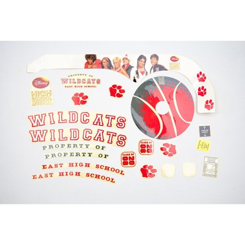 HIGH SCHOOL MUSICAL Kids BICYCLE Bike STICKER SET (Girls) Disney in RED New