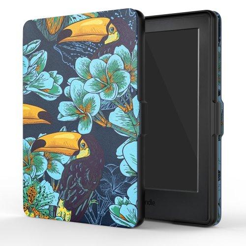 MoKo Kindle E-reader (8th Gen 2016) - Thin Light SmartShell Cover, Toucan Bird