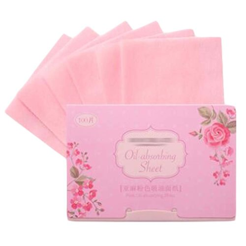 Rose Face Clean Oil-Absorbing Sheets, 300 Sheets