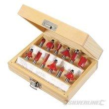 Silverline 8mm Tct Router Bit Set 12pce 8mm