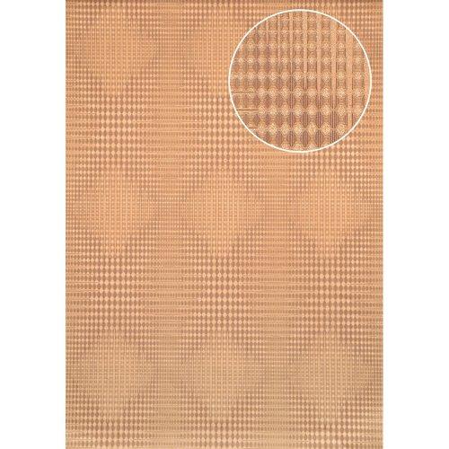 Atlas ICO-5074-4 Graphic wallpaper metallic highlights gold brown 7.035 sqm