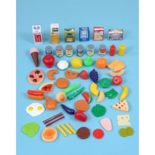 Childrens 60 Piece Grocery Food Play Set (A1436)