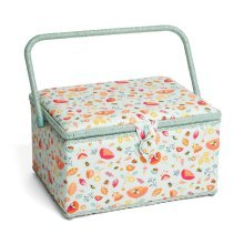 Hobbygift Premium Large Sewing Basket - Bees & Ladybirds - 24cm x 31.5cm x 19.5cm