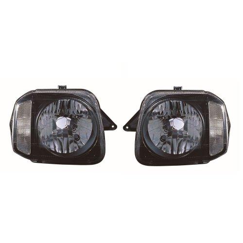 Suzuki Jimny 1998-2012 Black Inner Headlights Headlamps 1 Pair O/S & N/S