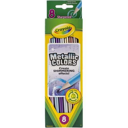Crayola Metallic Colored Pencils-8/Pkg Long