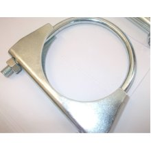 universal exhaust u clamp bolt heavy duty TV aerial pipe hose 36mm x 3, Pk x 3