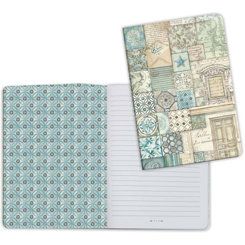 Stamperia Lined Notebook A5-Patchwork 2, Azulejos