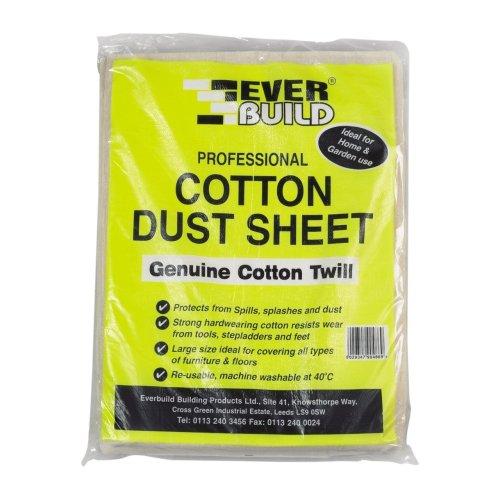 Everbuild Cotton Dust Sheet 12FT X 9FT