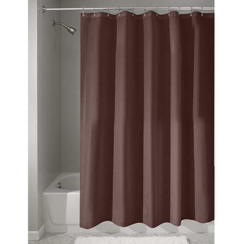 InterDesign Poly Bath Curtains, Long Shower Curtain, Made of Polyester, Chocolate