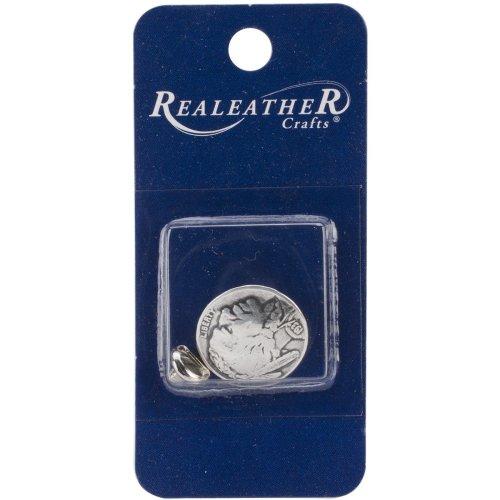 "Concho Antique Silver Screwback 1""-Indian Nickel"