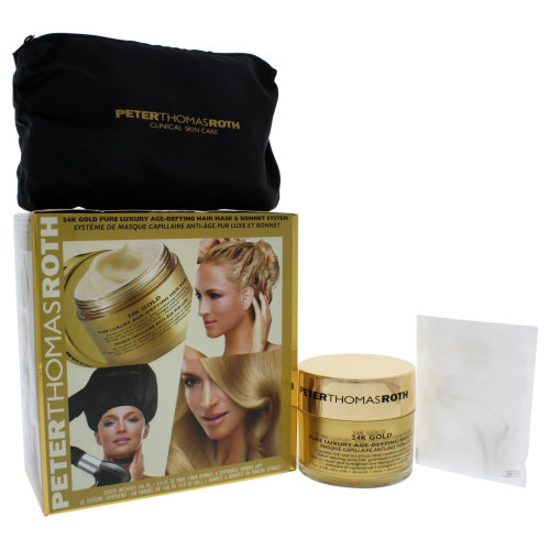 24K Gold Pure Luxury Age-Defying Hair Mask & Bonnet System