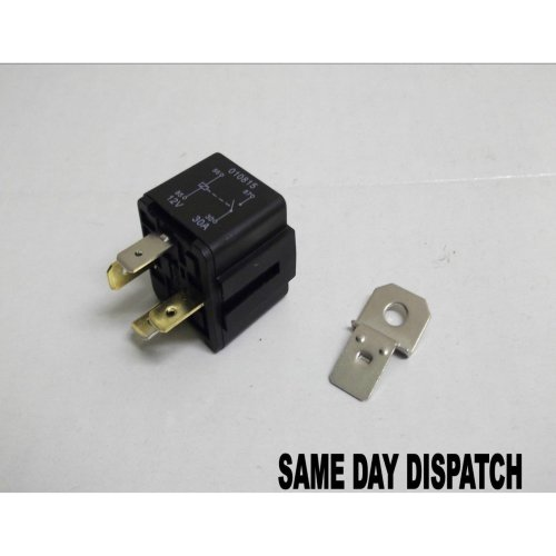 AUTOMOTIVE 12v 30Amp 4 PIN RELAY CAR MOTORBIKE VAN WITH BRACKET ( IN-1 )