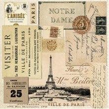 Paper+Design Pack of 20 Napkins / Serviettes - Ville de Paris - 33cm x 33cm - 3ply