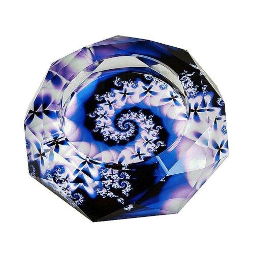 [C] Rhombus Shape Crystal Cigarette Ashtray Ash Tray Tabletop Decoration