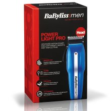 BaByliss Mens PowerLight Pro Hair Clipper Shaver Kit Mains/Cordless Steel Blades