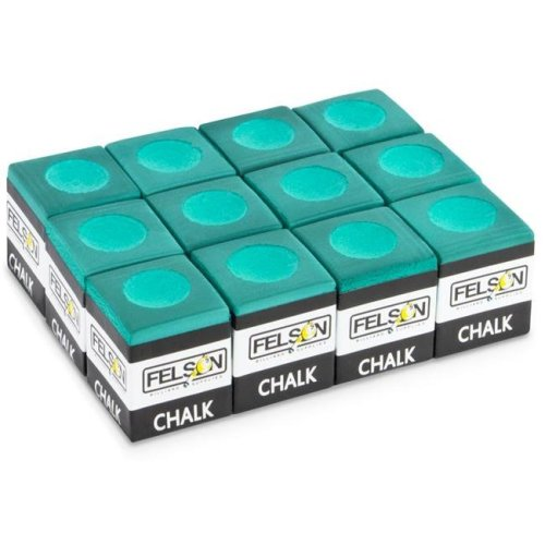 Pool Cue Chalk, Green - Pack of 12