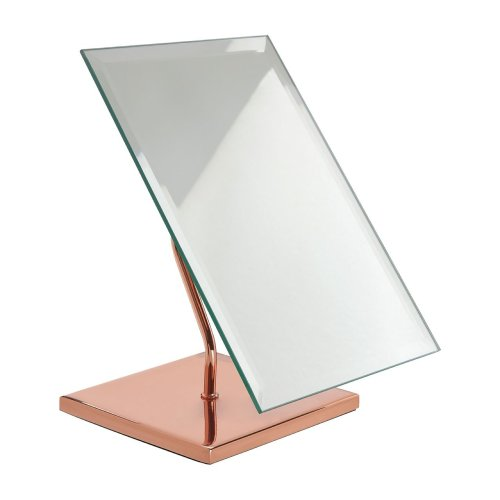 Clara Table, Iron/Mirrored Glass, Rose Gold