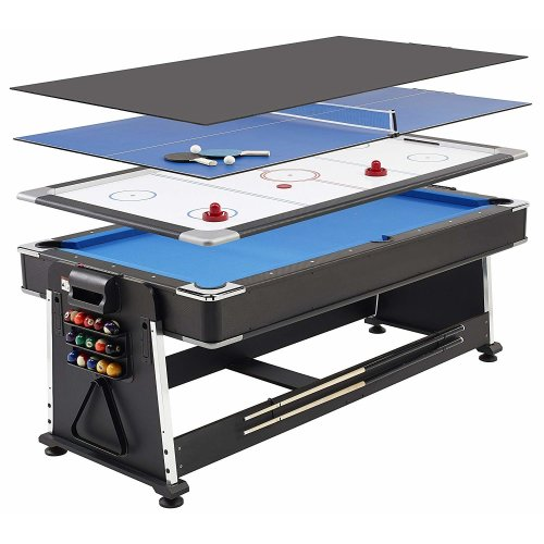 Mightymast 7ft Revolver 3-in-1 Pool, Air Hockey & Table Tennis Table