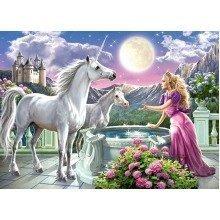 Csb13098 - Castorland Jigsaw Classic 120 Pc -princess and Her Unicorns