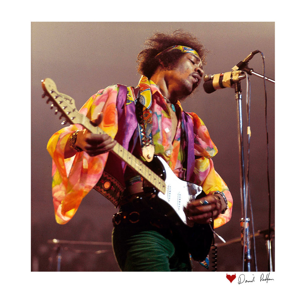 7237af8e6 ... David Redfern Official Photography - Jimi Hendrix At The Royal Albert  Hall 1969 B&W White Men's ...
