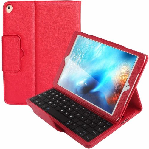 PEMOTech New Keyboard Case Compatible for iPad 9.7/Pro 9.7 2017/2018 iPad Air 1/2, Ultra Lightweight Detachable Hidden Wireless Bluetooth Keyboard...