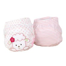 Lovely Pink Sheep Baby Elastic Cloth Diaper Cover (M, 9-11KG)