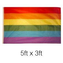 5ft x 3ft Lesbian Gay Pride Banner Flag