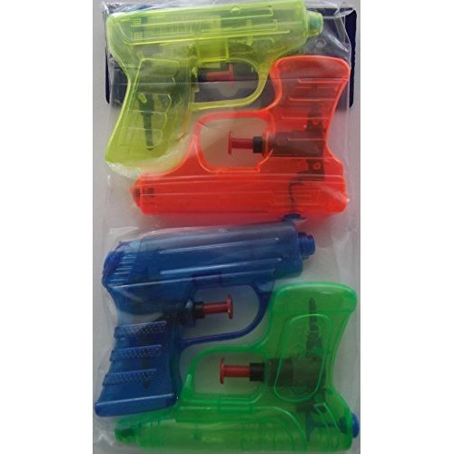 Soak N Fun Mini Water Blaster Set 4 Pack