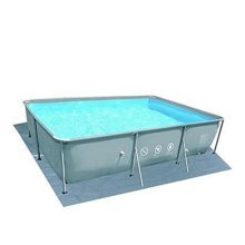 Pool Central Rectangular Gray Swimming Pool Ground Cloth, 14