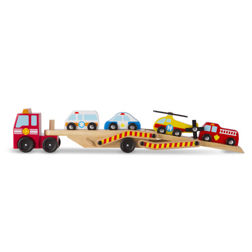 Childrens Melissa & Doug Emergency Vehicle Carrier Toy Age 3+
