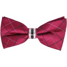 Plum Buckle Bow Tie with Rhinestone Centre