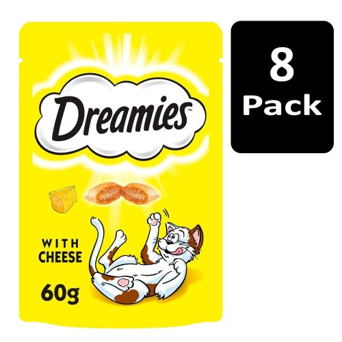 DREAMIES Cat Treats With Cheese 8x60g