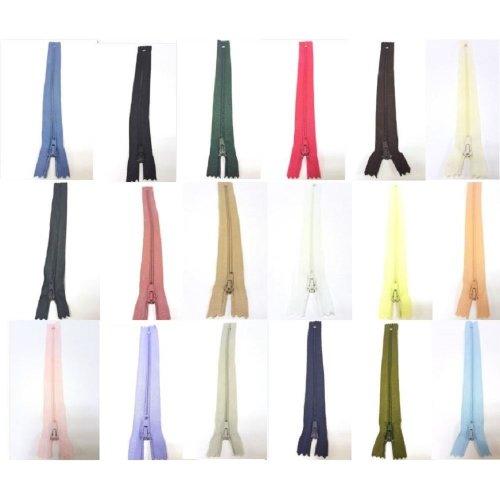 Closed End Nylon Auto-Lock Dress Zip - No. 3 - Choice of Sizes & Colours