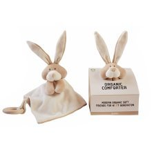 Wooly Organic Comforter Bunny with teether ring