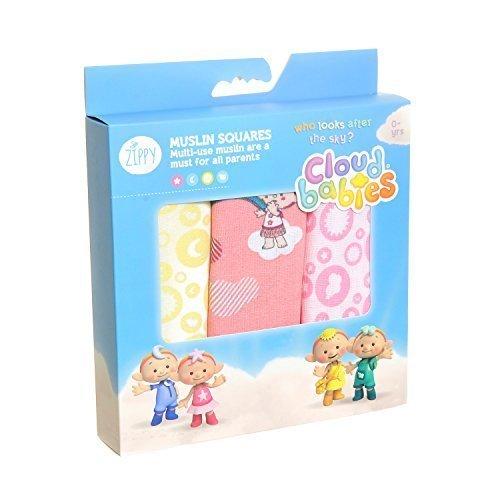 Cloudbabies Muslin Squares - Girls - 3pk