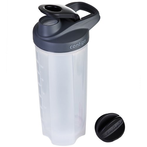 Contigo Shake & Go FIT Gym Sports Protein Shaker Bottle 820ml 28oz w/ Mixer Ball