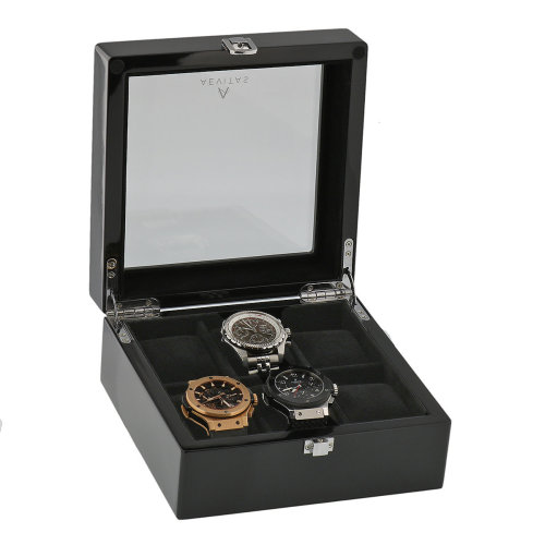 Piano Black Watch Collectors Box for 6 Wrist watches by Aevitas
