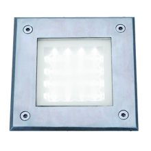 Led Recessed Square Chrome Walkover Light White Led IP67