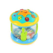 Musical Electric Baby Toys Hand Drum Instrument Percussion Set for Children,Ocean Projection Drum